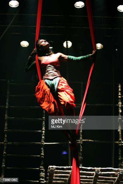Archana Ramaswamy perfoms on the stage during the photocall of musical A Midsummer Night's Dream at the Roundhouse on March 13 2007 in London England