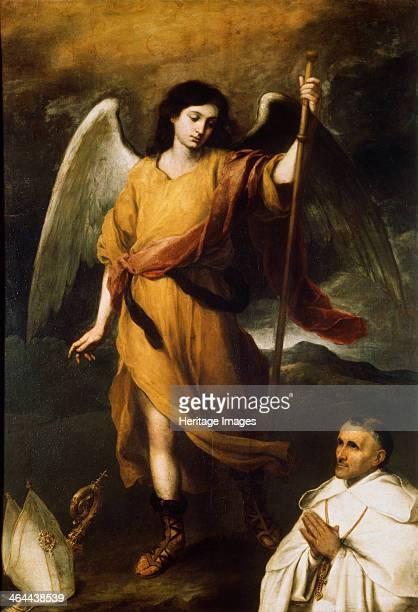 'Archangel Raphael with Bishop Domonte' 17th century Found in the collection of the State A Pushkin Museum of Fine Arts Moscow