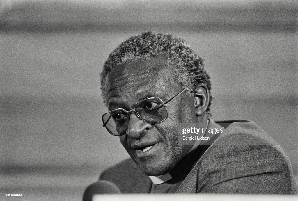 Archbishop Desmond Tutu at a conference in London.