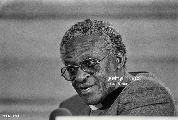 Archbishop Desmond Tutu at a conference in London