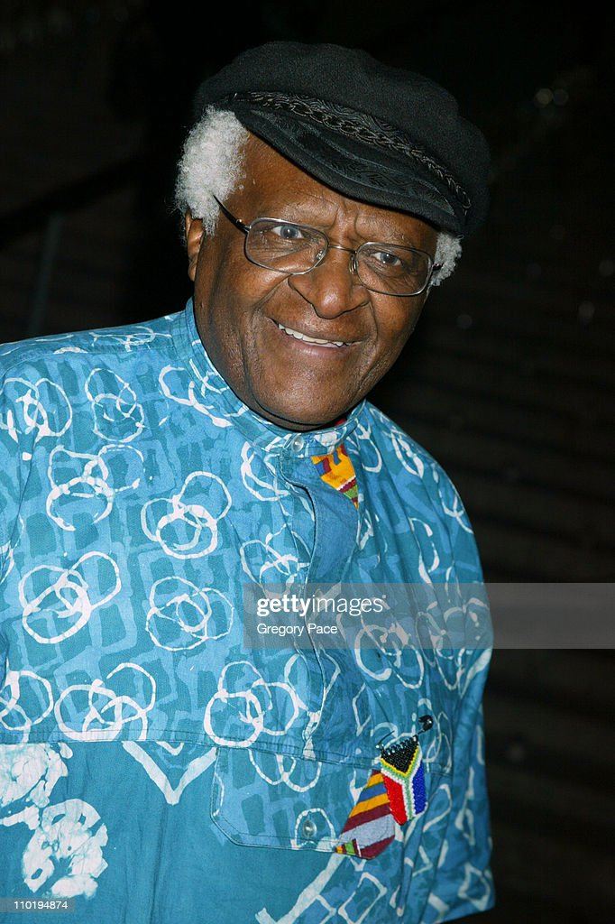 Archbishop <a gi-track='captionPersonalityLinkClicked' href=/galleries/search?phrase=Desmond+Tutu&family=editorial&specificpeople=214730 ng-click='$event.stopPropagation()'>Desmond Tutu</a> during 3rd Annual Tribeca Film Festival - Vanity Fair Party at The State Supreme Courthouse in New York City, New York, United States.