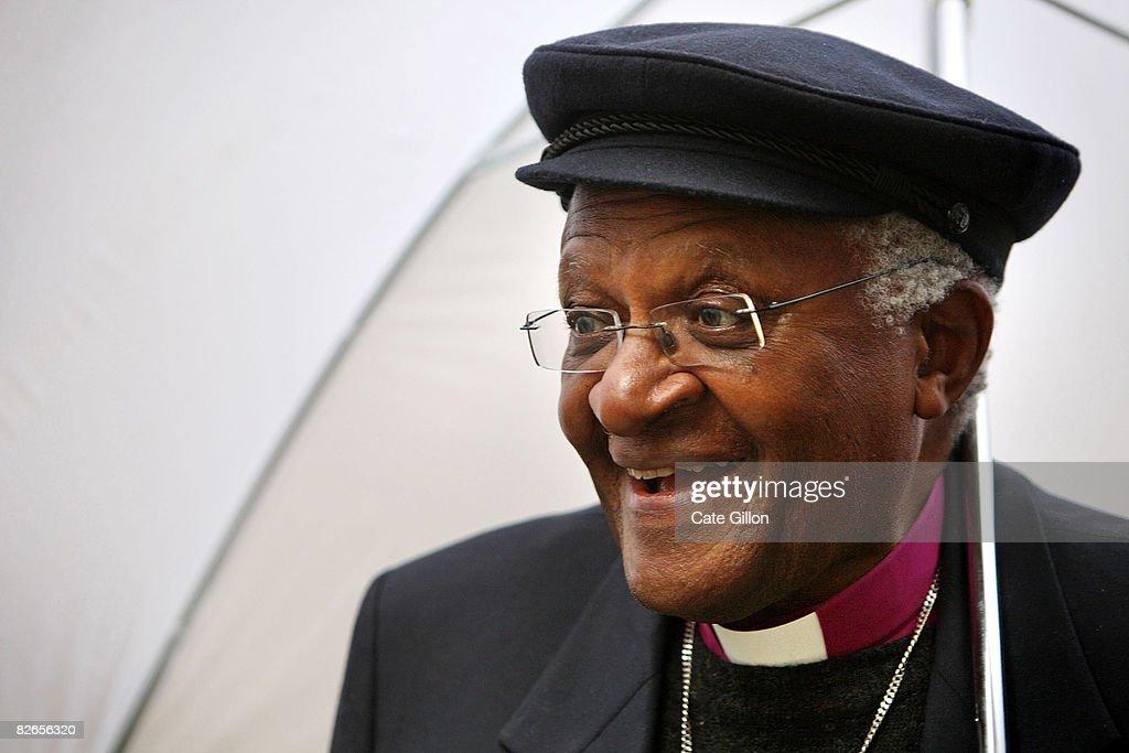Archbishop Desmond Tutu Unveils A New Sculpture