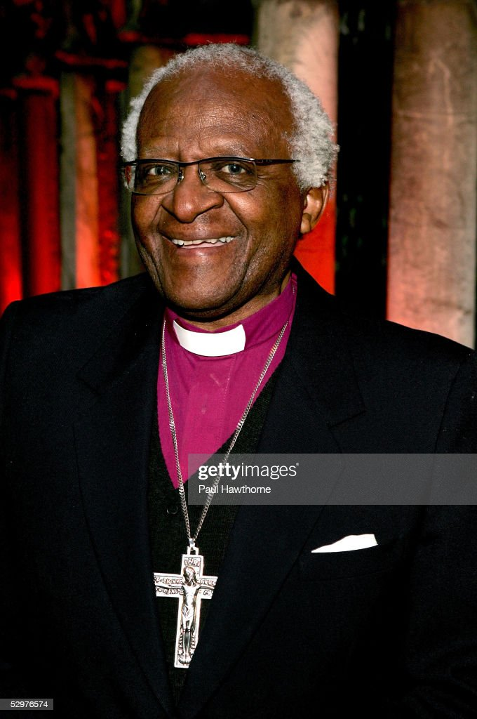 Archbishop Emeritus <a gi-track='captionPersonalityLinkClicked' href=/galleries/search?phrase=Desmond+Tutu&family=editorial&specificpeople=214730 ng-click='$event.stopPropagation()'>Desmond Tutu</a> attends a ceremony in which he was honored by the Africa Foundation And Conservation Corporation Africa at The Explorers Club May 24, 2005 in New York City.