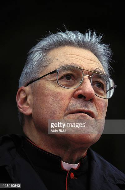 Archbishop Lustiger During The Stations Of The Cross On Apruil 05th 1996 In Paris France