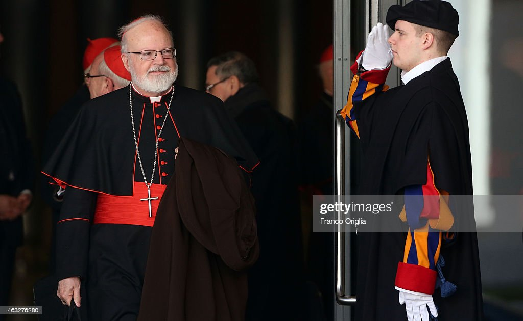 Archbishop of Boston Cardinal Sean O'Malley leaves the Synod Hall at the end of the opening session of the Extraordinary Consistory on February 12, 2015 in Vatican City, Vatican. Pope Francis summoned cardinals from around the world to help carry out his mandate to reform the Vatican's central government , or Curia, by proposing reforms to encourage greater harmony, collaboration and transparency.