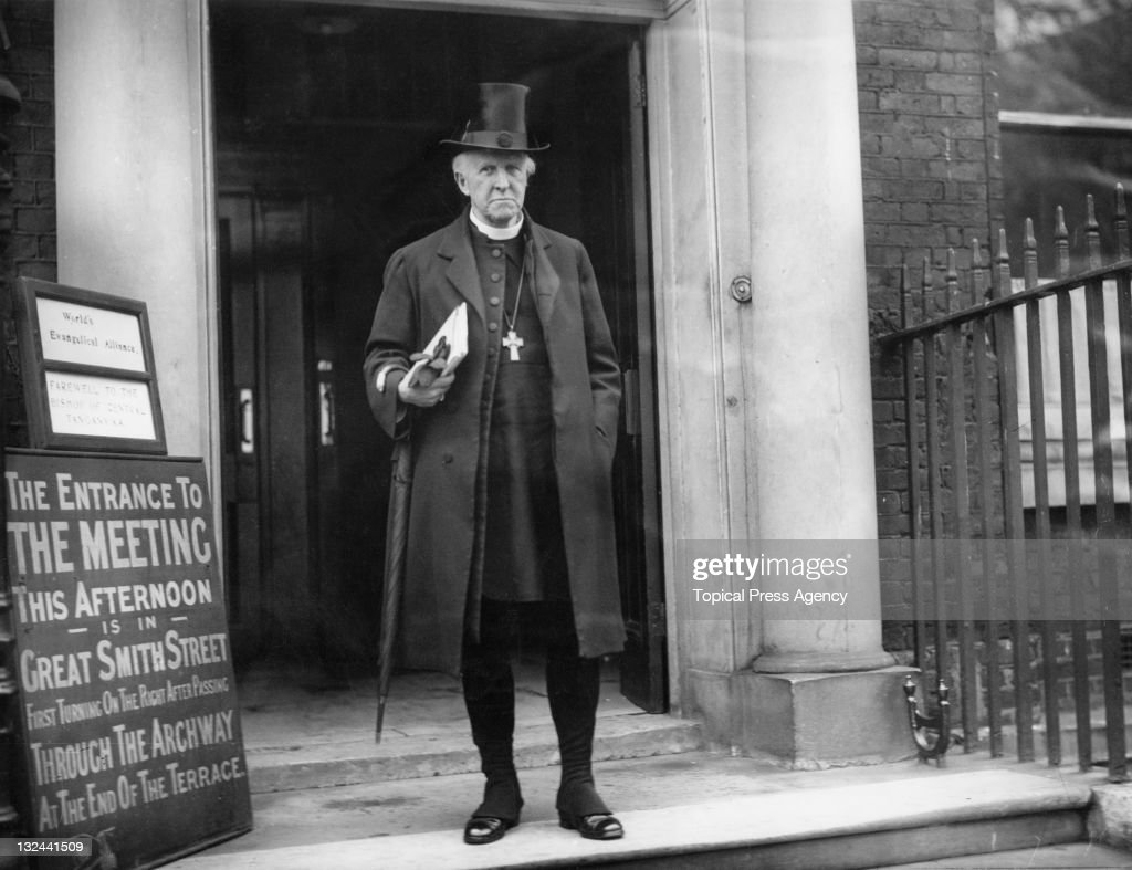 Archbishop of Canterbury Cosmo Gordon Lang outside Church House Westminster London 13th November 1930