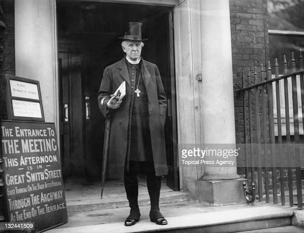 Archbishop of Canterbury Cosmo Gordon Lang outside Church House Westminster London 13th November 1930