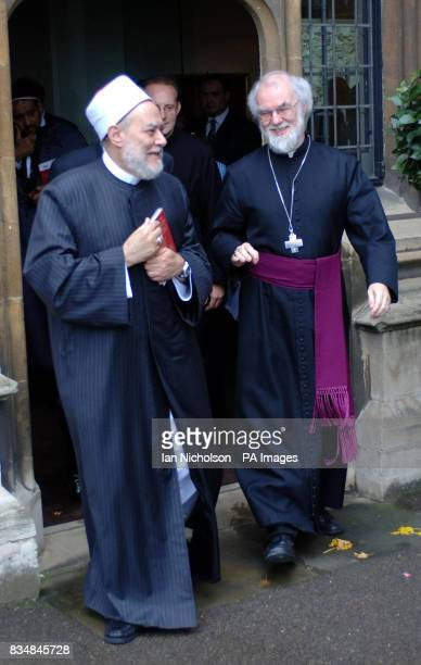 Archbishop of Canterbury Dr Rowan Williams and Grand Mufti of Egypt Dr Ali Gomaa at a conference on A Common Word and Future MuslimChristian...
