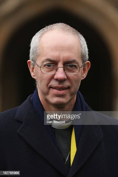 Archbishop of Canterbury Justin Welby arrives at the House of Lords on February 26 2013 in London England Today marks the Archbishop's first day as...