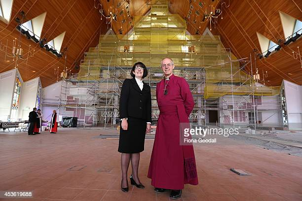 Archbishop of Canterbury Justin Welby tours the Holy Trinity Cathedral refurbishments with Dean of Auckland Jo KellyMoore before he unveils a...