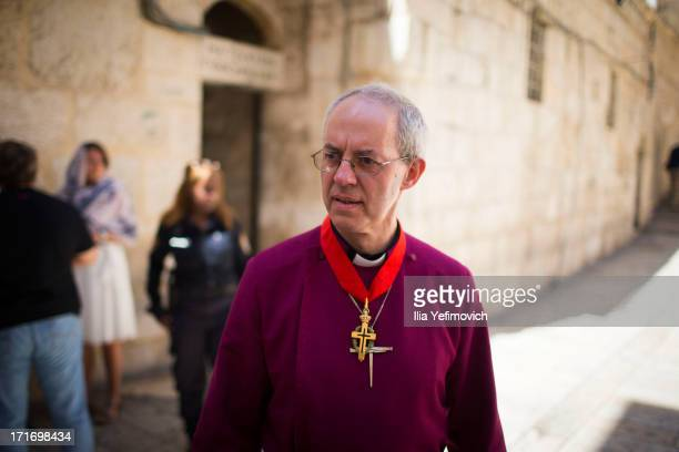 Archbishop of Canterbury Justin Welby visits the church of the Holy Sepulchre on June 28 2013 in Jerusalem's Old City Israel The Most Reverend Justin...