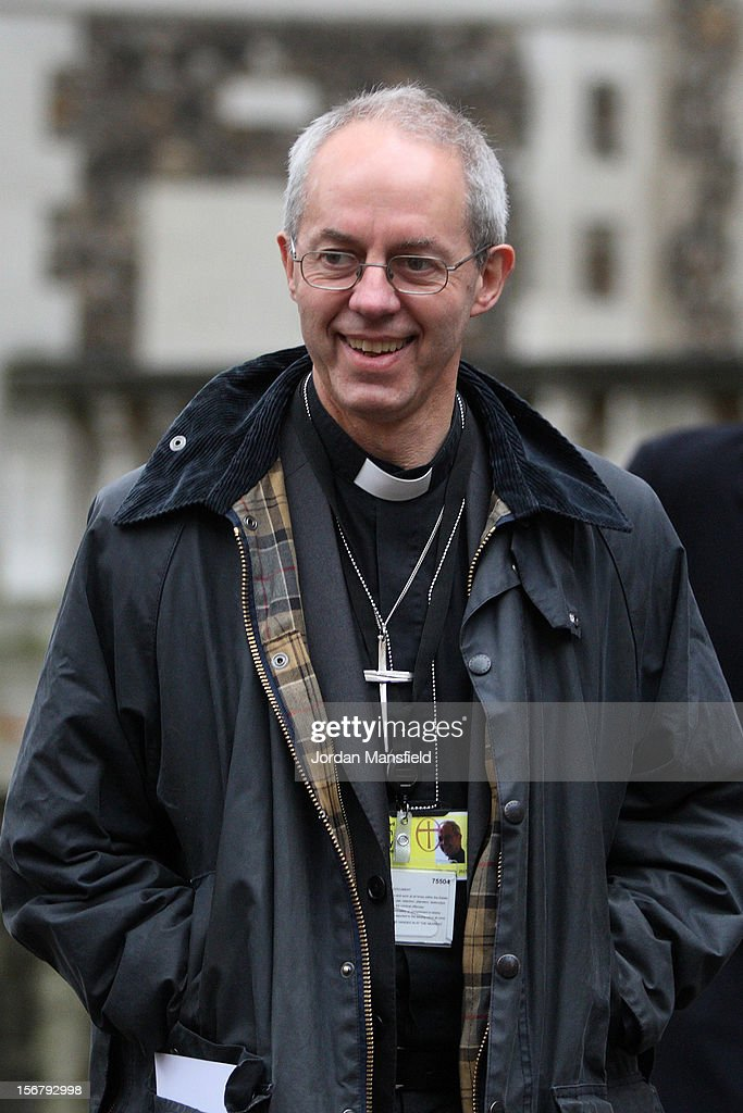 Archbishop of Canturbury in waiting, Justin Welby leaves Church House after attending the General Synod on November 21, 2012 in London, England. The Church of England's governing body, known as the General Synod, yesterday voted to prevent women from becoming bishops.