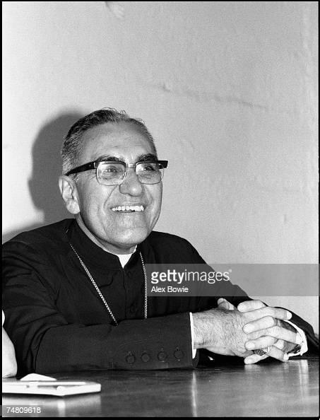 Archbishop Oscar Romero at home in San Salvador 20th November 1979 Known locally as Monsenor Romero Archbishop Romero was assassinated by a gunman...