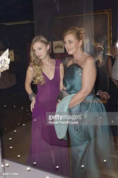 Archduchess Eleonore Von Habsburg and her daughter Princess Francesca Von Habsburg attend the 'Cartier Le Style et L'Histoire' Exhibition Private...