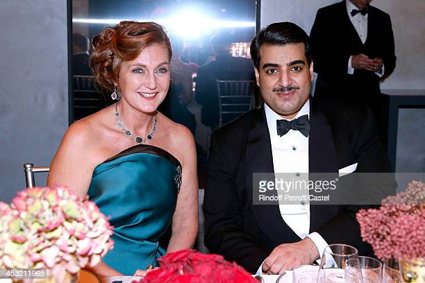 Archduchess Eleonore Von Habsburg and Sheikh Hamad Bin Abdullah Al Thani attend the 'Cartier Le Style et L'Histoire' Exhibition Private Opening at Le...