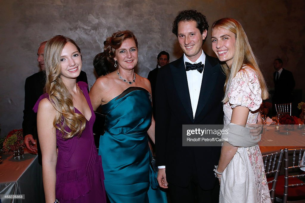Archduchess Eleonore Von Habsburg with her daughter Princess Francesca Von Habsburg and John Elkan and his wife Laviana Elkan attend 'Cartier: Le Style et L'Histoire' Exhibition Private Opening at Le Grand Palais on December 2, 2013 in Paris, France.