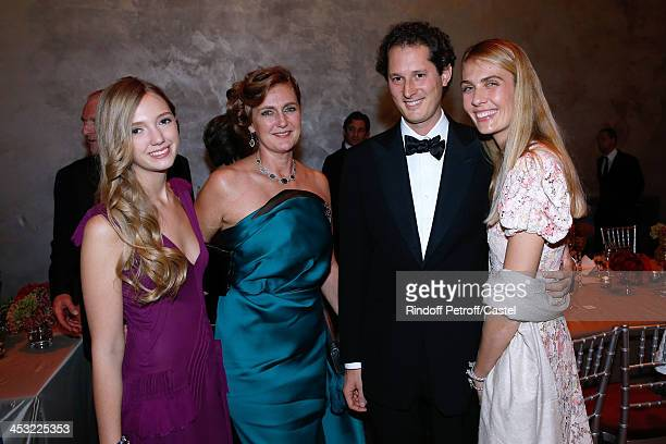 Archduchess Eleonore Von Habsburg with her daughter Princess Francesca Von Habsburg and John Elkan and his wife Laviana Elkan attend 'Cartier Le...