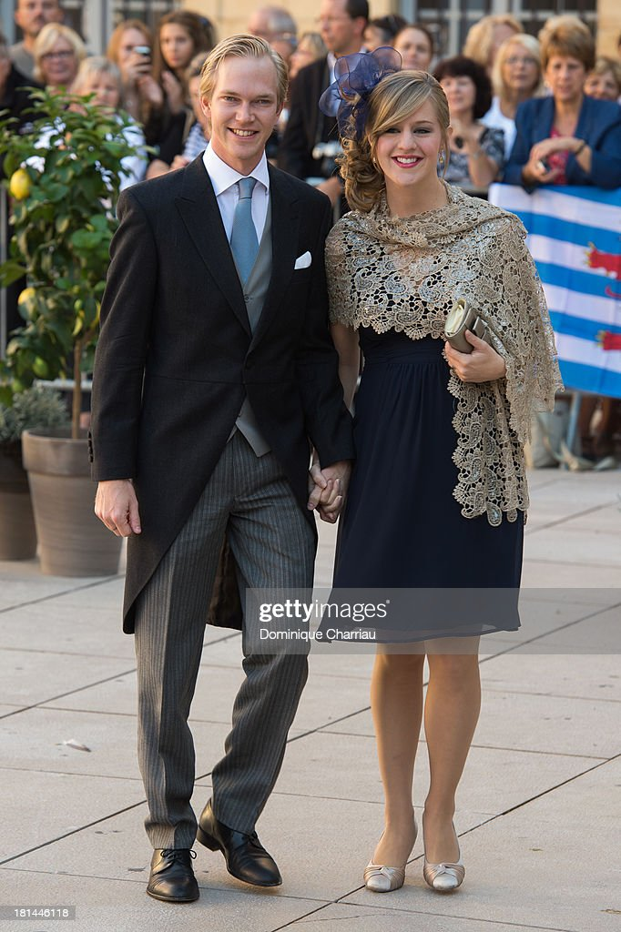 Archduke Imre and Archduchess Kathleen attend the Religious Wedding Of Prince Felix Of Luxembourg & Claire Lademacher at Basilique Sainte Marie-Madeleine on September 21, 2013 in Saint-Maximin-La-Sainte-Baume, France.