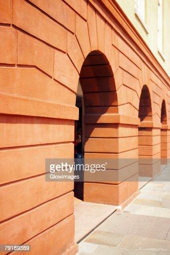 Arched entrances of a building, Charleston, South Carolina, USA : Foto de stock