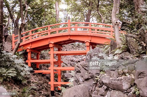 Arche de pont dans le jardin japonais Orange