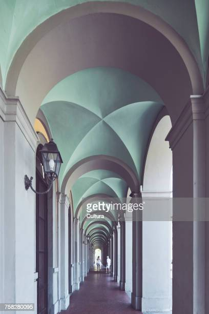 Arched train station portico, Lucca, Tuscany, Italy