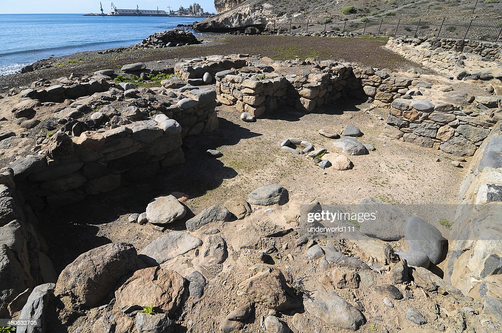 Archeology Site in Canary Islands : Stockfoto