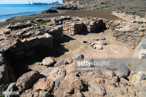 Archeology Site in Canary Islands : Stock Photo