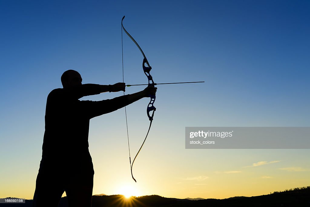 archer at sunset