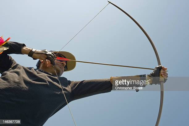 Archer Drawing Longbow