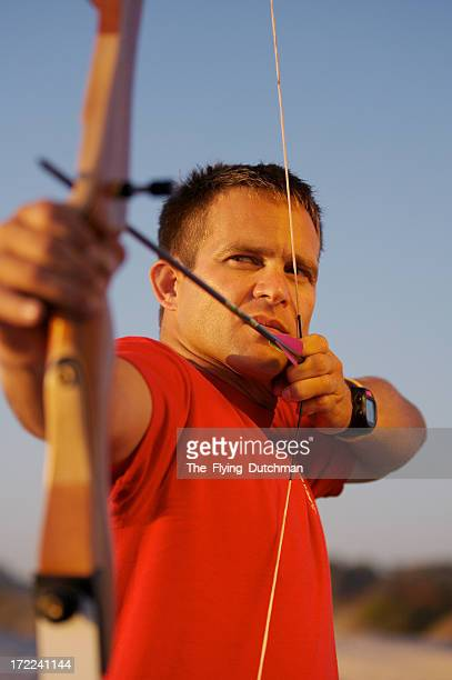 Archer series with man wearing red