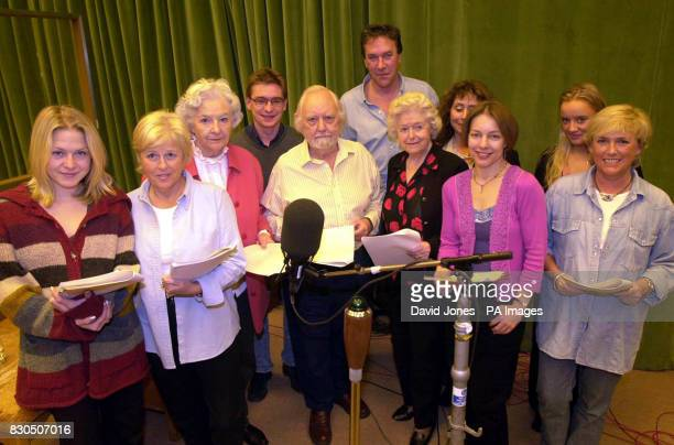 Archers cast members rehearse at Birmingham's Pebble Mill studios for the 50th anniversary episode which is transmitted on New Year's Day 2001...
