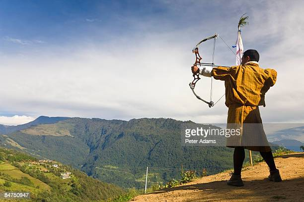Archery competition, Bumthang, Bhutan