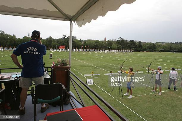 Archery world championship in Madrid Spain on June 22 2005 All the competition is supervised by FITA judges