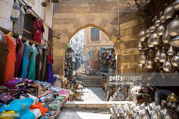 Arches and markets in Islamic Cairo, Egypt