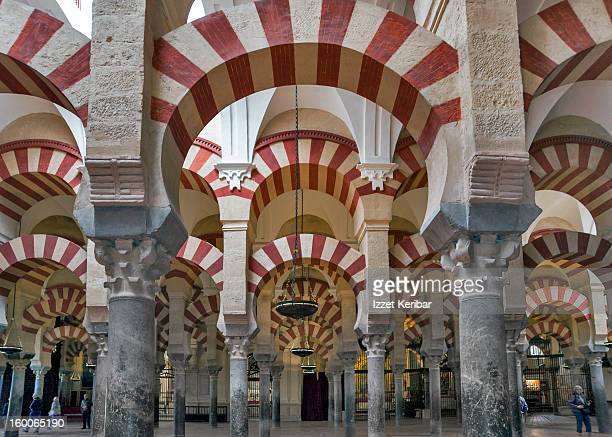 Arches inside Mezquita at Cordoba