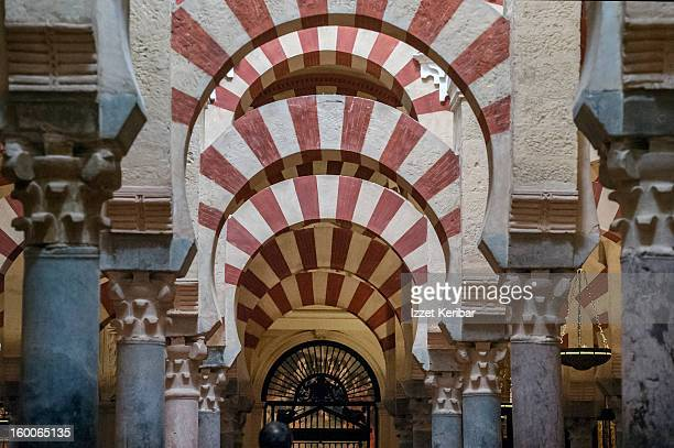 Arches inside Mezquita