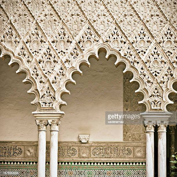 Arches of Reales Alcazares in Sevilla