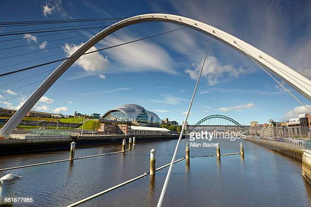 Arches of the bridges of Newcastle over the Tyne