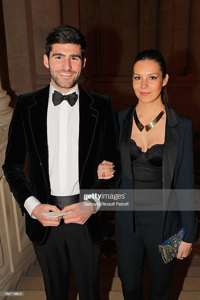 Archibald Pearson de Brantes (L) and Larah Loutati attend the gala dinner of Professor David Khayat's association 'AVEC', at Chateau de Versailles on February 4, 2013 in Versailles, France.