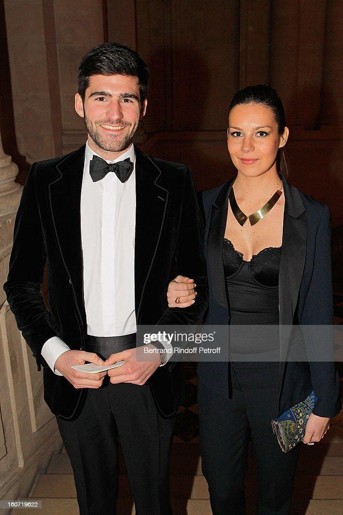 Archibald Pearson de Brantes (L) and Larah Loutati attend the gala dinner of Professor David Khayat's association 'AVEC', at Chateau de Versailles on February 4, 2013 in Versailles, France.