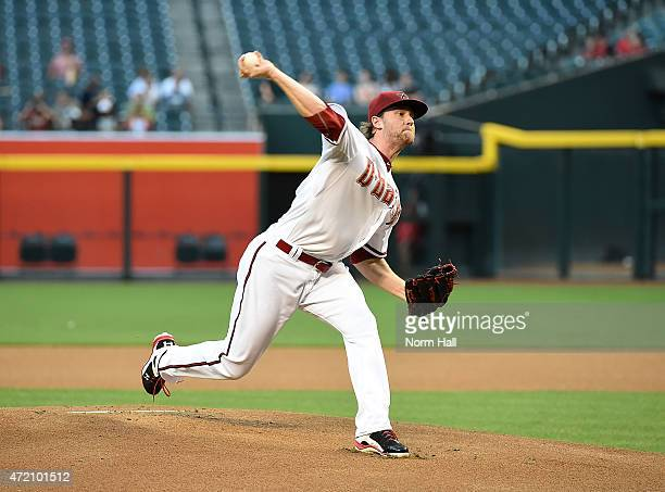 Archie Bradley of the Arizona Diamondbacks delivers a pitch against the Colorado Rockies at Chase Field on April 28 2015 in Phoenix Arizona