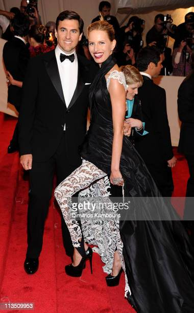 Archie Drury and model Karolina Kurkova attend the 'Alexander McQueen Savage Beauty' Costume Institute Gala at The Metropolitan Museum of Art on May...