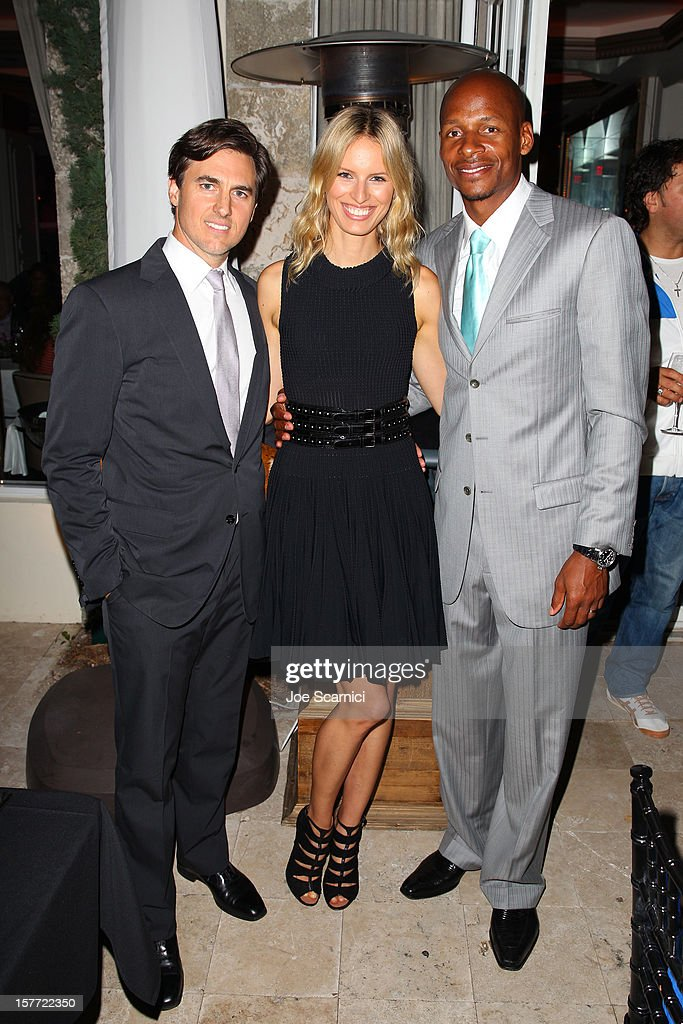 Archie Drury, model Karolina Kurkova and Ray Allen attend the Haute Living and Roger Dubuis dinner hosted by Daphne Guinness at Azur on December 5, 2012 in Miami Beach, Florida.