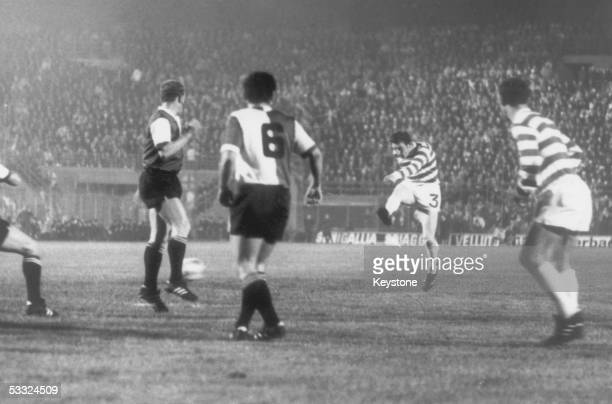 Archie Gemmell scoring Celtic's second goal during the European Cup final in the San Siro Milan Dutch team Feyenoord beat the Scots 21 in extra time...