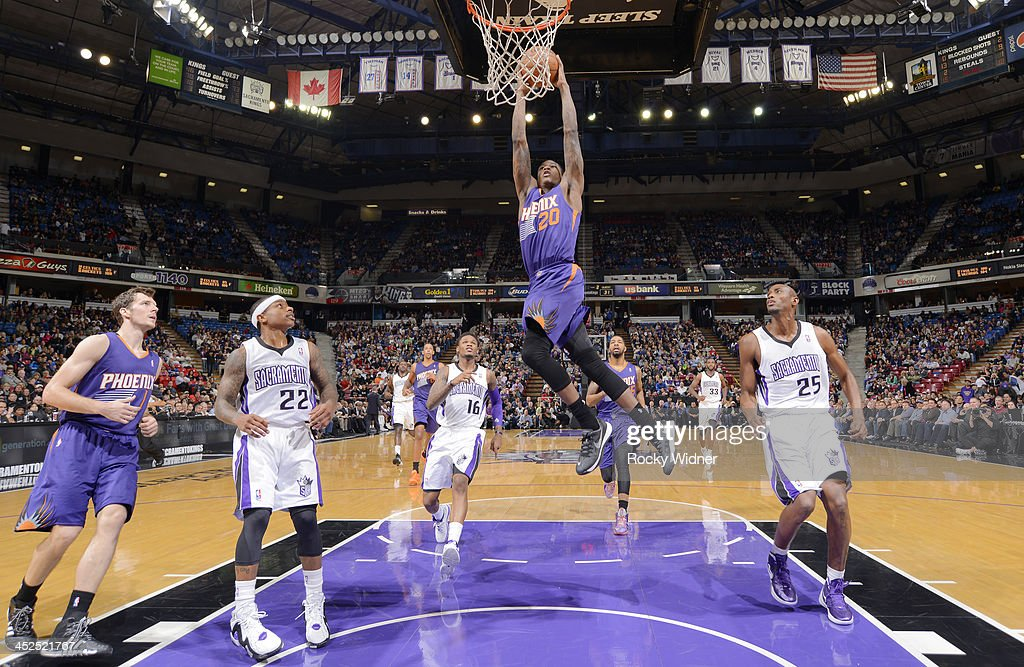 <a gi-track='captionPersonalityLinkClicked' href=/galleries/search?phrase=Archie+Goodwin&family=editorial&specificpeople=9086088 ng-click='$event.stopPropagation()'>Archie Goodwin</a> #20 fo the Phoenix Suns dunks against the Sacramento Kings on November 19, 2013 at Sleep Train Arena in Sacramento, California.