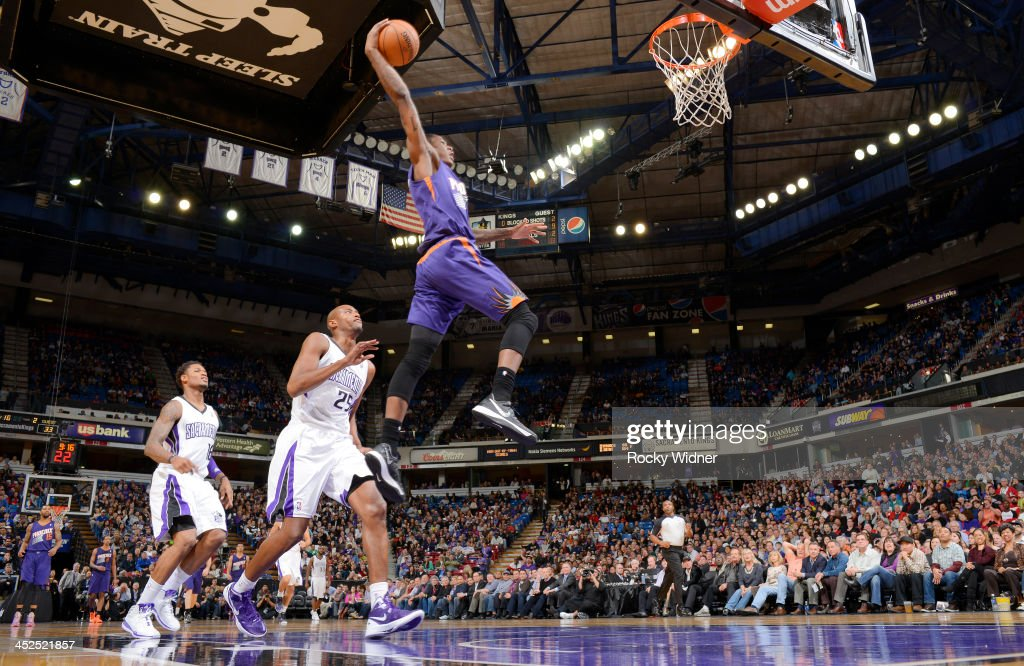 <a gi-track='captionPersonalityLinkClicked' href=/galleries/search?phrase=Archie+Goodwin&family=editorial&specificpeople=9086088 ng-click='$event.stopPropagation()'>Archie Goodwin</a> #20 of the Phoenix Suns dunks against the Sacramento Kings on November 19, 2013 at Sleep Train Arena in Sacramento, California.