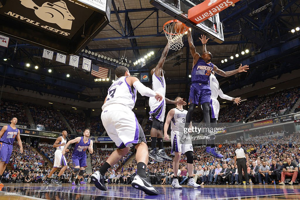 <a gi-track='captionPersonalityLinkClicked' href=/galleries/search?phrase=Archie+Goodwin&family=editorial&specificpeople=9086088 ng-click='$event.stopPropagation()'>Archie Goodwin</a> #20 of the Phoenix Suns dunks against the Sacramento Kings on April16, 2014 at Sleep Train Arena in Sacramento, California.