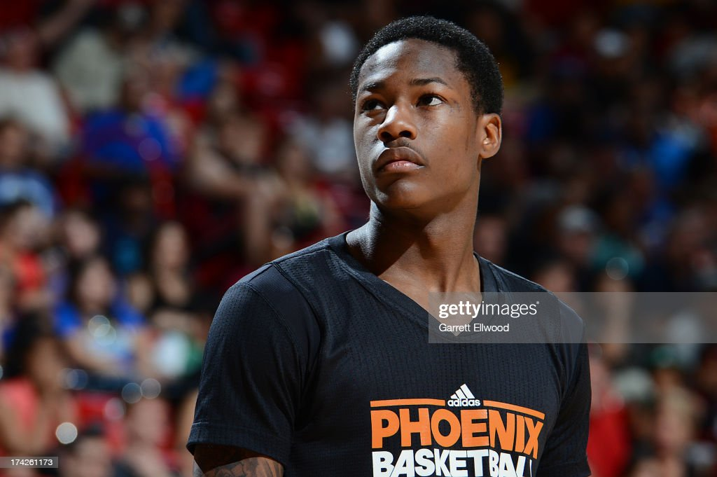 Archie Goodwin #29 of the Phoenix Suns looks on against the Golden State Warriors during NBA Summer League Championship Game on July 22, 2013 at the Cox Pavilion in Las Vegas, Nevada.