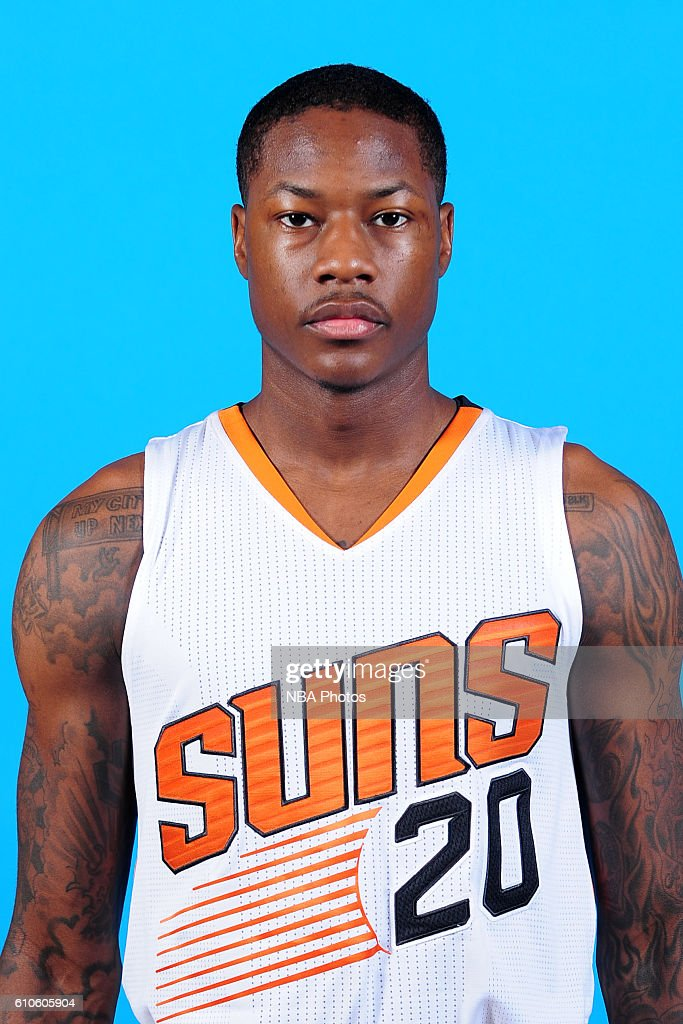 Archie Goodwin #20 of the Phoenix Suns poses for a headshot during the 2016-2017 Phoenix Suns Media Day on September 26, 2016, at Talking Stick Resort Arena in Phoenix, Arizona.