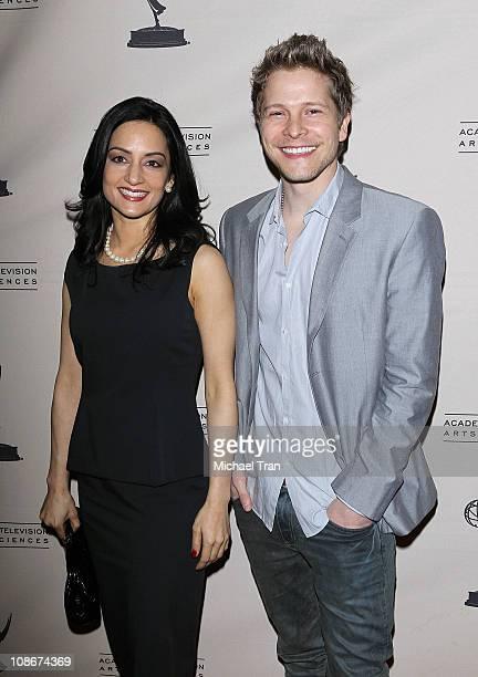 Archie Panjabi and Matt Czuchry arrive at the Academy Of Television Arts Sciences Presents An Evening With 'The Good Wife' held at Leonard H...